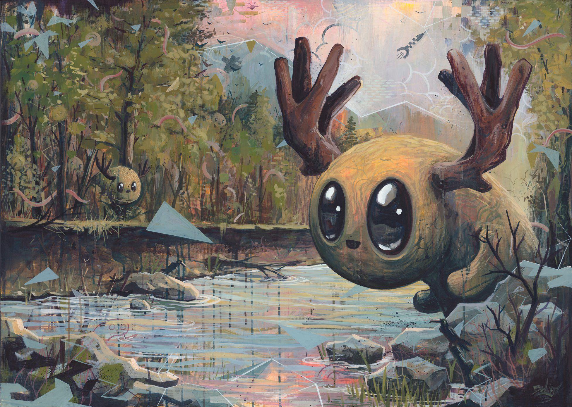 Pop surreal art © Bert van Wijk. More: www.ohsosurreal.com