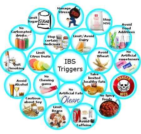 Image result for TRIGGERS of ibs