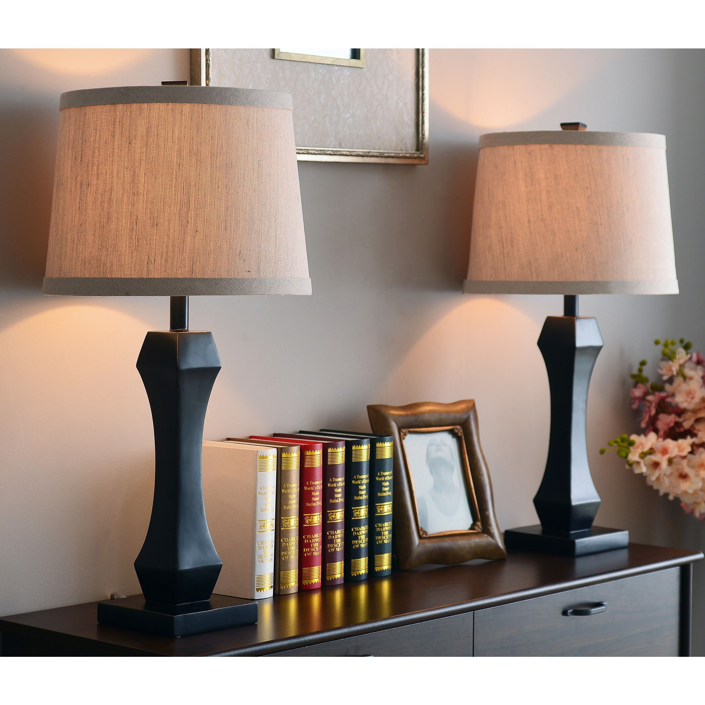 Lamp Table Lamps For Living Room Bedroom Tall Rectangular Cream Shade Oriental Asian From The Artistic Style Of T Metal Table Lamps Table Lamp Table Lamp Sets