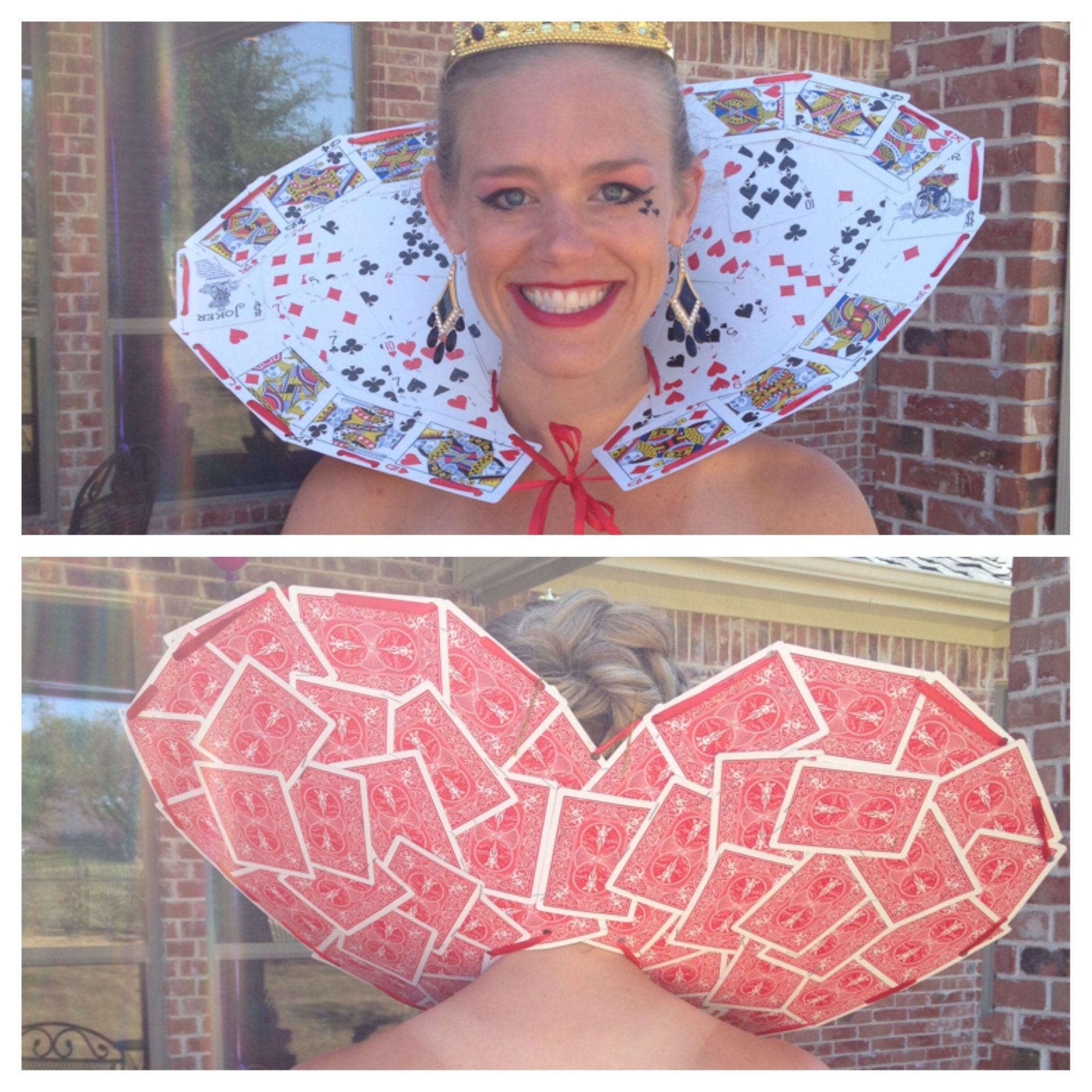 Queen Of Heart Collar I Made Out Of A Deck Of Cards Halloween Alice In Wonderland Queen Of Hearts Costume Alice In Wonderland Costume