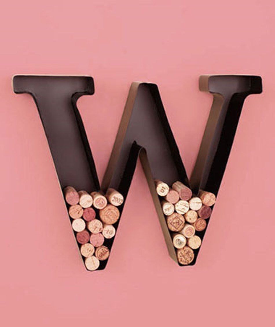 Wine Cork Holder Wall Decor free shipping! metal monogram wine cork holder wall decor