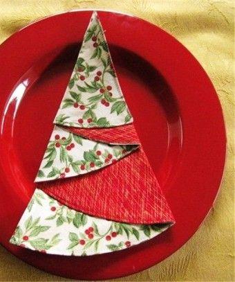 Servietten falten: Weihnachten - Ideen zum Tischdeko basteln ... | 407x340