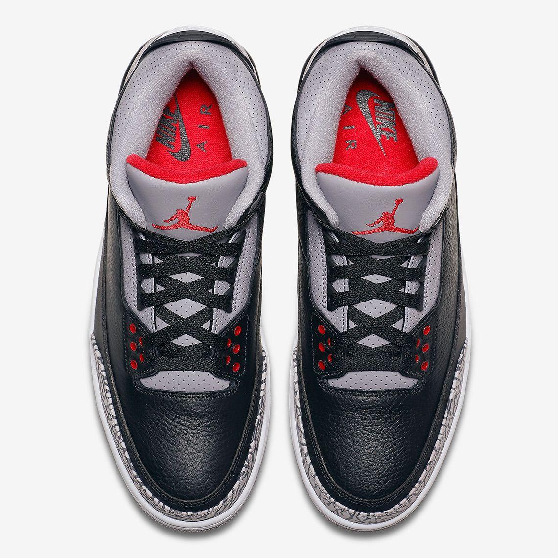 huge selection of 5fb2e 93ba1 Jordan 3 Black Cement Official Images - 2018 Release Info ...