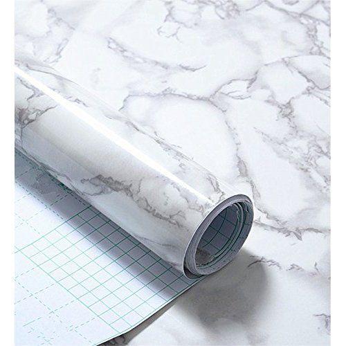 D C Fix Folie Marmor Marmi Grau Rolle 67 5 Cm X 200 Cm Selbtklebend Vinyl Selbstklebend Mietwohnungen Badewannenbrett