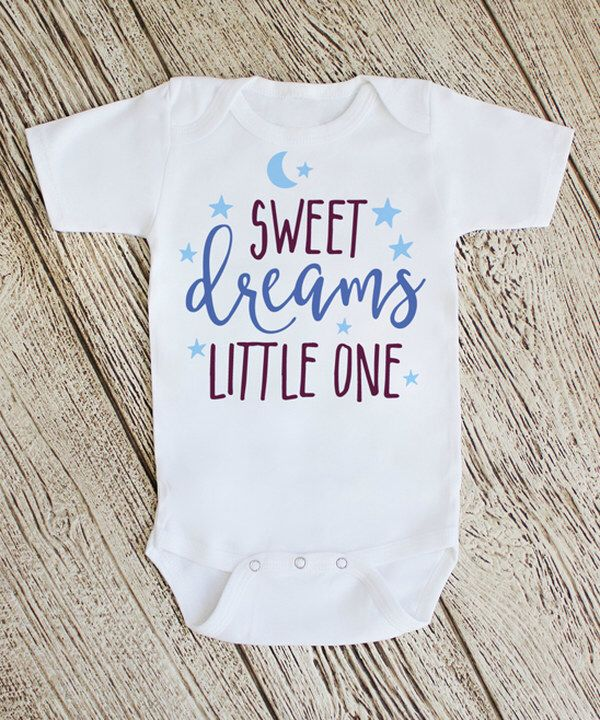 Look at this White 'Sweet Dreams Little One' Bodysuit on #zulily today!