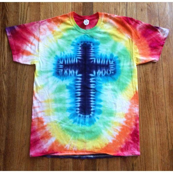 Christian Cross Tie Dye T-Shirt Christian Shirt Religious ...