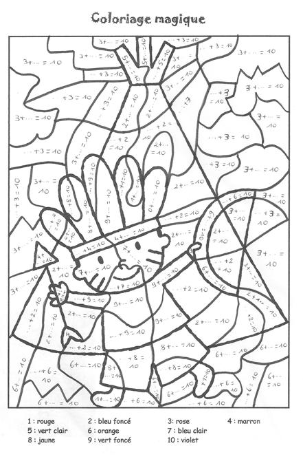 Coloriage Magique Soustraction A Colorier Dessin A Imprimer Coloring Pages Wild West Theme Coloring For Kids