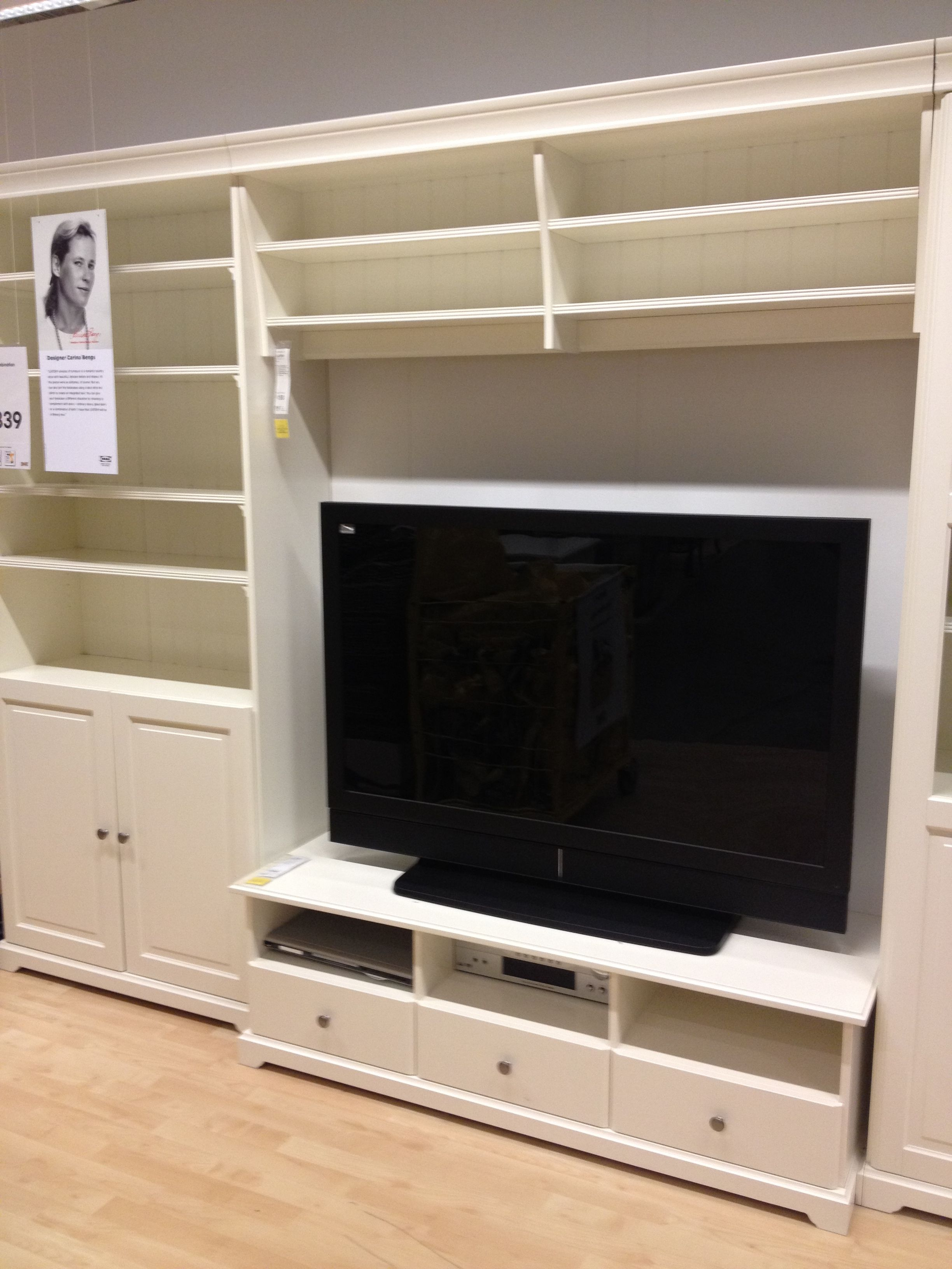 ikea tv stand and built in wall unit ikea built ins pinterest