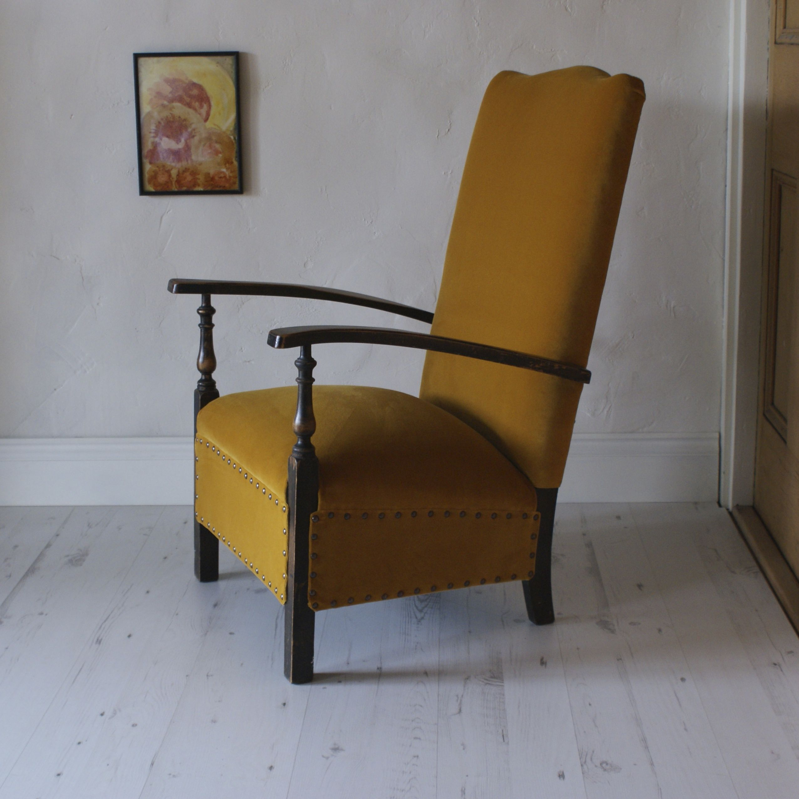 Velvet, Chairs, Yellow, Tire Chairs, Stool, Side Chairs, Chair, Wingback