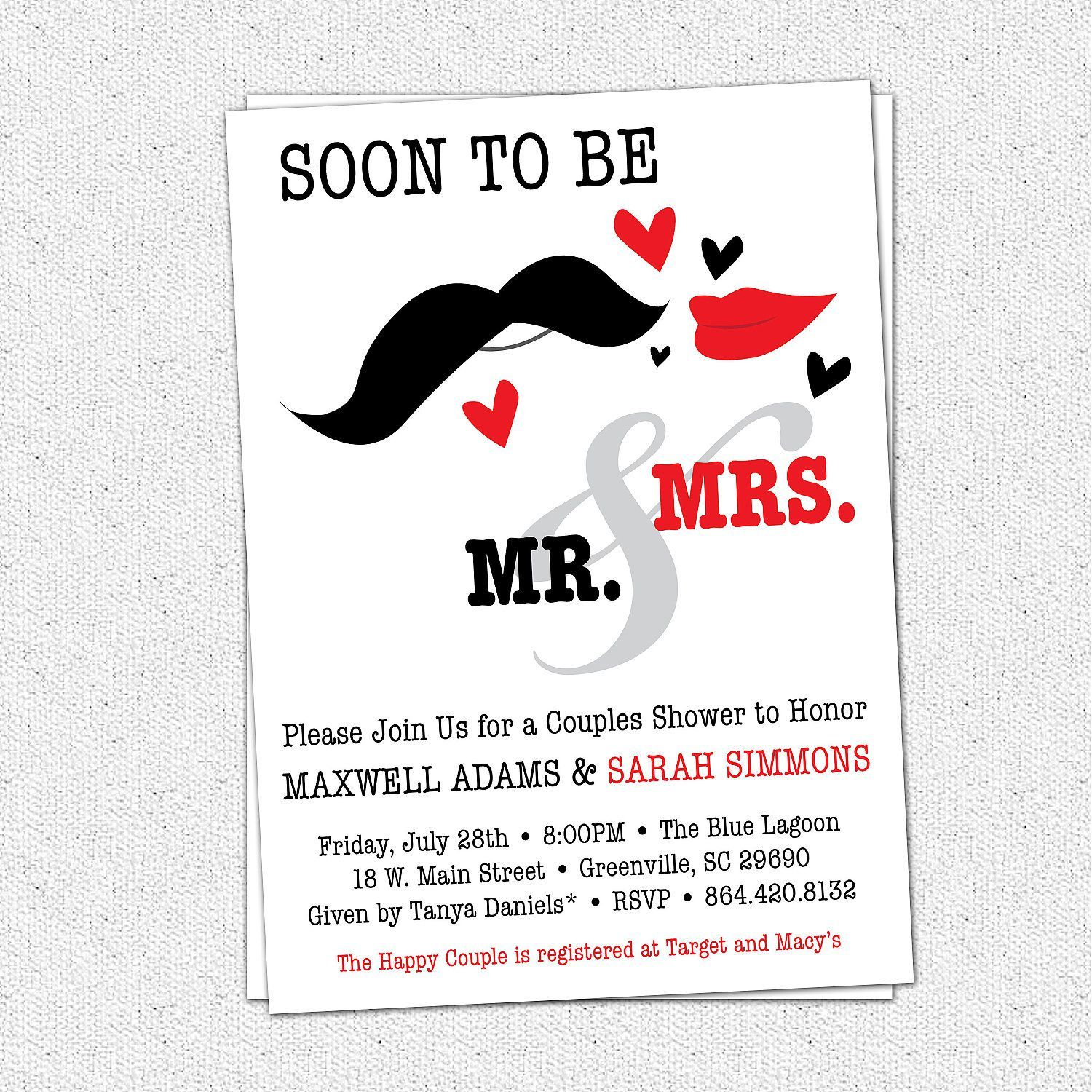 Couples Wedding Shower Invitations Templates Free Invitations - Couples wedding shower invitations templates free