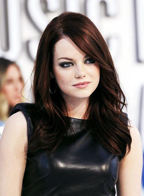 Emma Stone Dark Auburn Hair Colors New Medium Hairstyles Hair