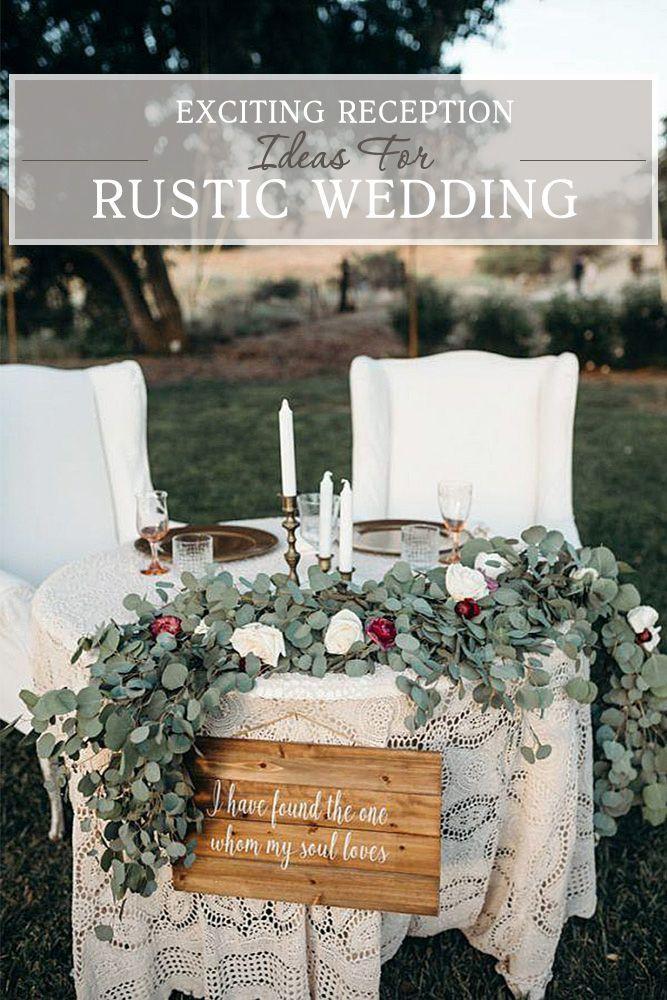 30 Rustic Wedding Reception Exciting Ideas