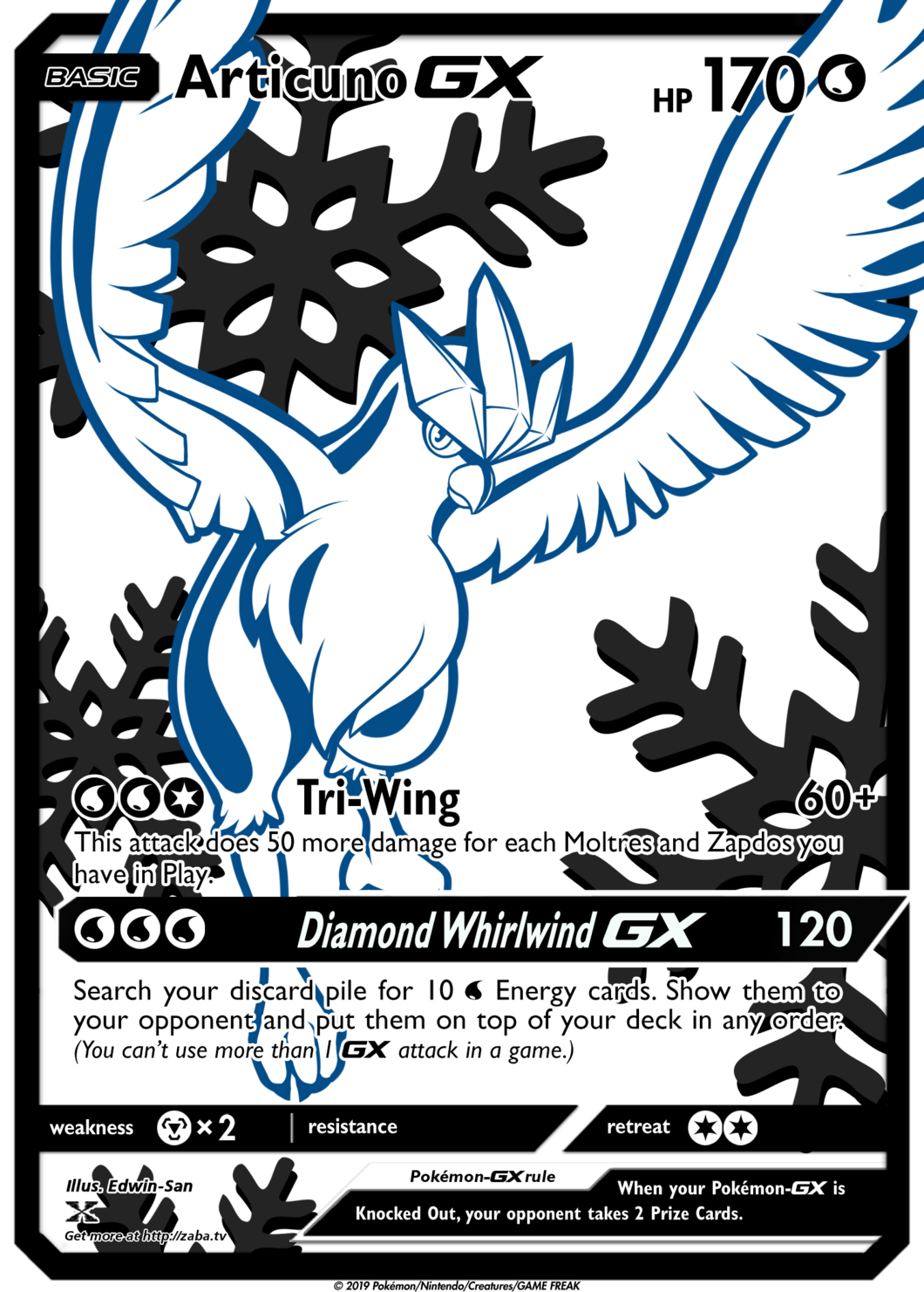 Preorder Articuno Gx Full Metal Textured Luxury Custom Pokemon Card All Pokemon Cards Cool Pokemon Cards Rare Pokemon Cards