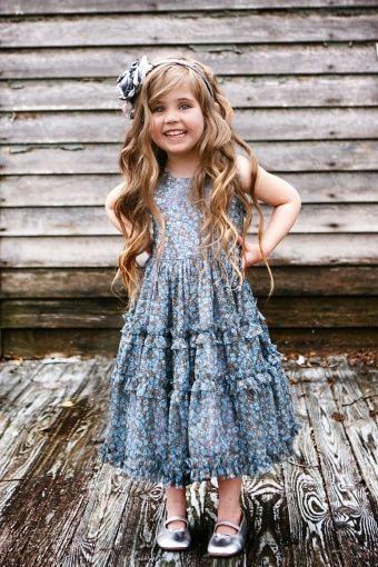 Isabel Garreton Frappe Blue Floral Dress