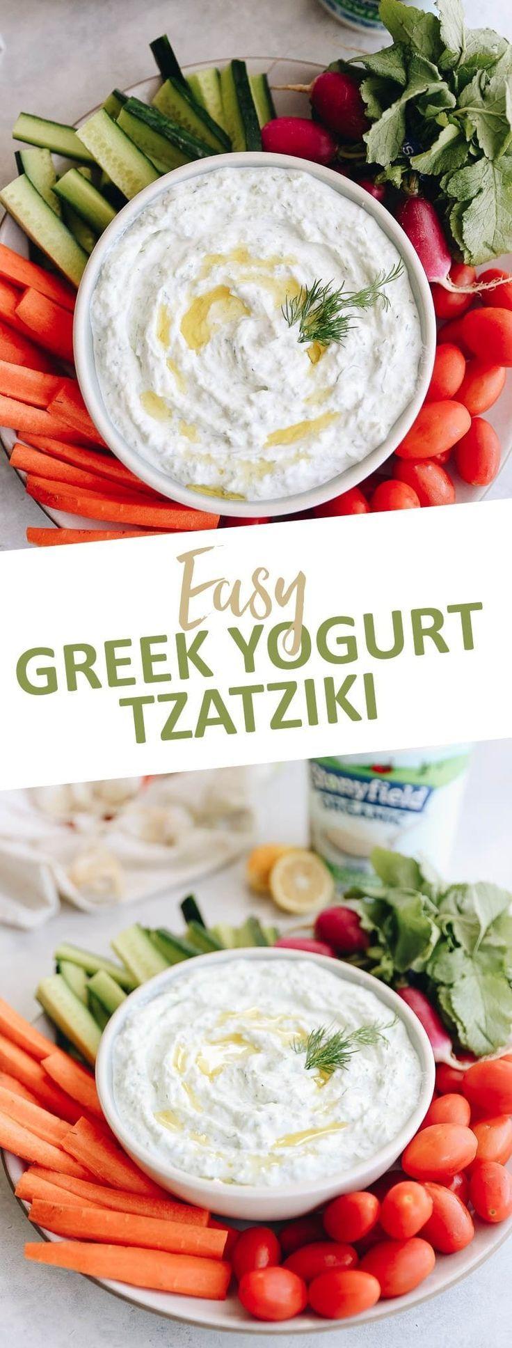 Easy greek yogurt tzatziki dip the healthy maven greek