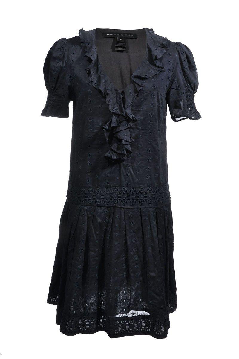 Marc by #MarcJacobs | Feminin besticktes #Sommerkleid aus reiner Baumwolle, Gr. M | Marc by Marc Jacobs | mymint-shop.com | Ihr Online #Shop für #Secondhand / #Vintage Designerkleidung & Accessoires bis zu -90% vom Neupreis das ganze Jahr #mymint