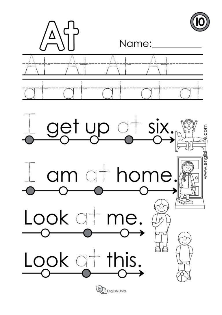 Beginning Reading 7 Is English Unite Kindergarten Reading Worksheets Reading Worksheets Beginning Reading [ 1090 x 768 Pixel ]