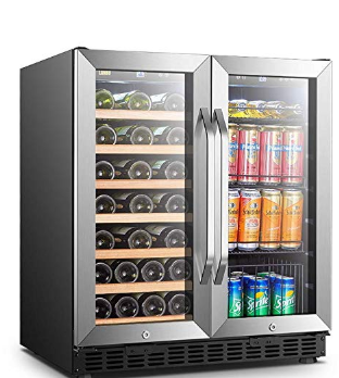 Lanbo Wine And Beverage Cooler Compressor Under Counter Wine Cellar And Beverage Fridge Combo Beverage Refrigerator Beverage Fridge Beverage Cooler