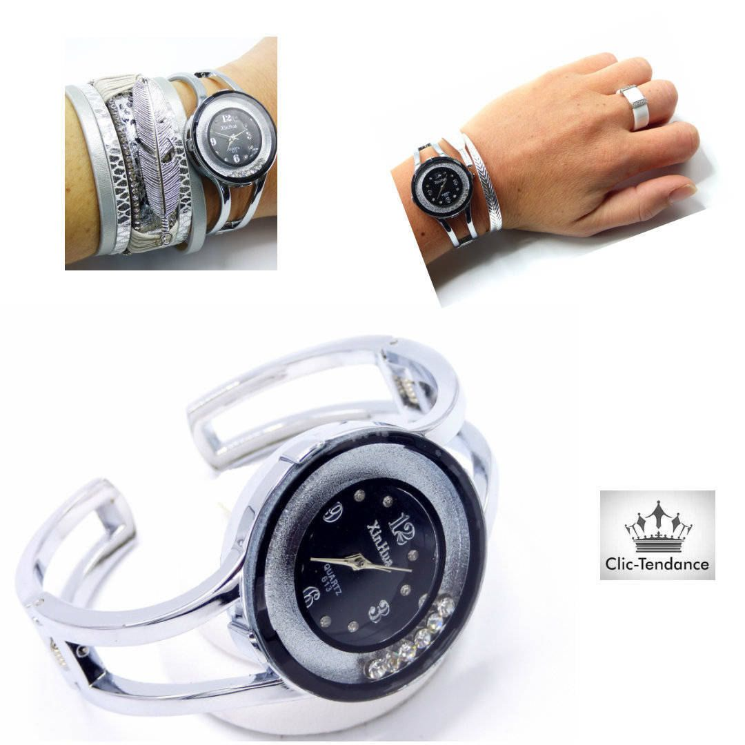 Montre Femme Light Black de la boutique www.Clic-Tendance.fr  montre ... 605312f8d62