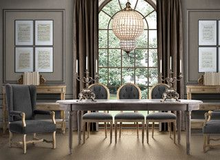 Dining Room New York French Dining Table  Traditional  Dining Room  New York