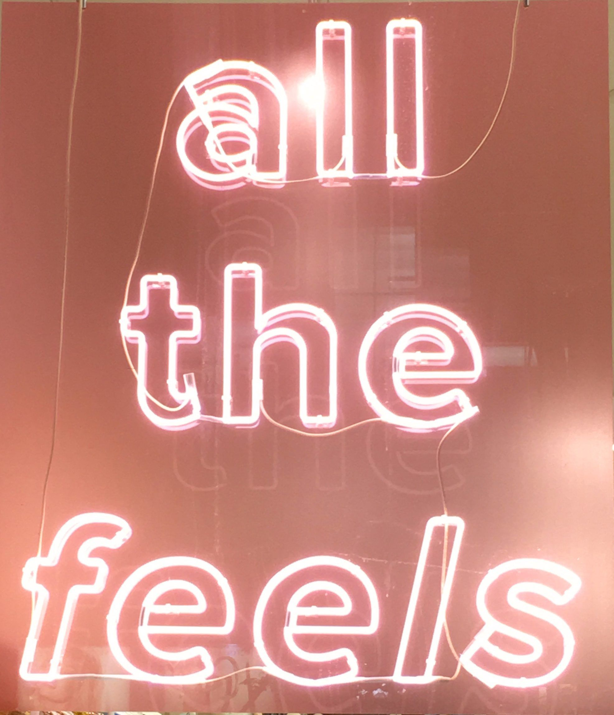 Pink Thing of The Day: All The Feels Neon Sign | Picture collage wall, Wall  collage, Bedroom wall collage