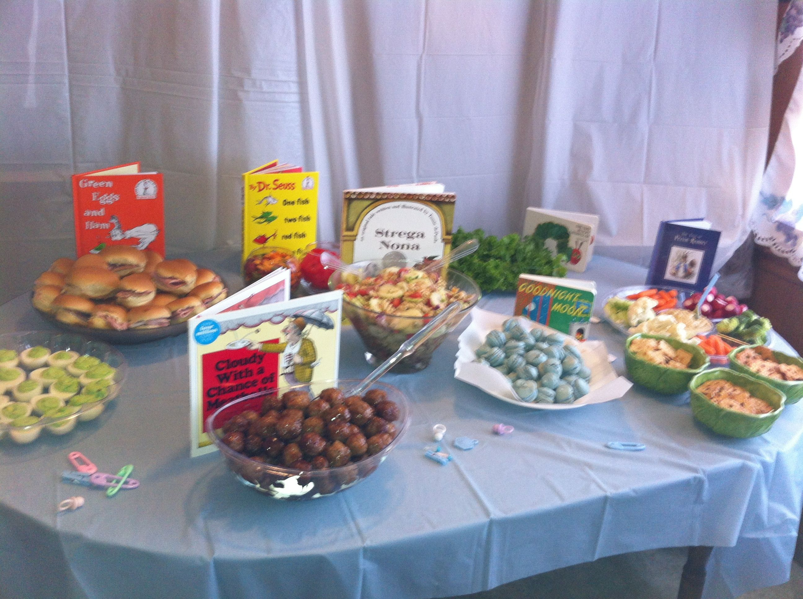 MY PIN close up of book themed foods Again love my sisters