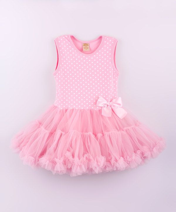 Loving this Mia Belle Baby Pink & White Polka Dot Tutu Dress - Toddler on #zulily! #zulilyfinds