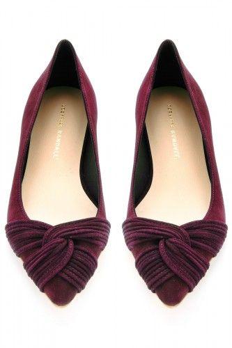 0e05f43ab56740 ... shoe closet. Bordeaux flats are perfect for fall.