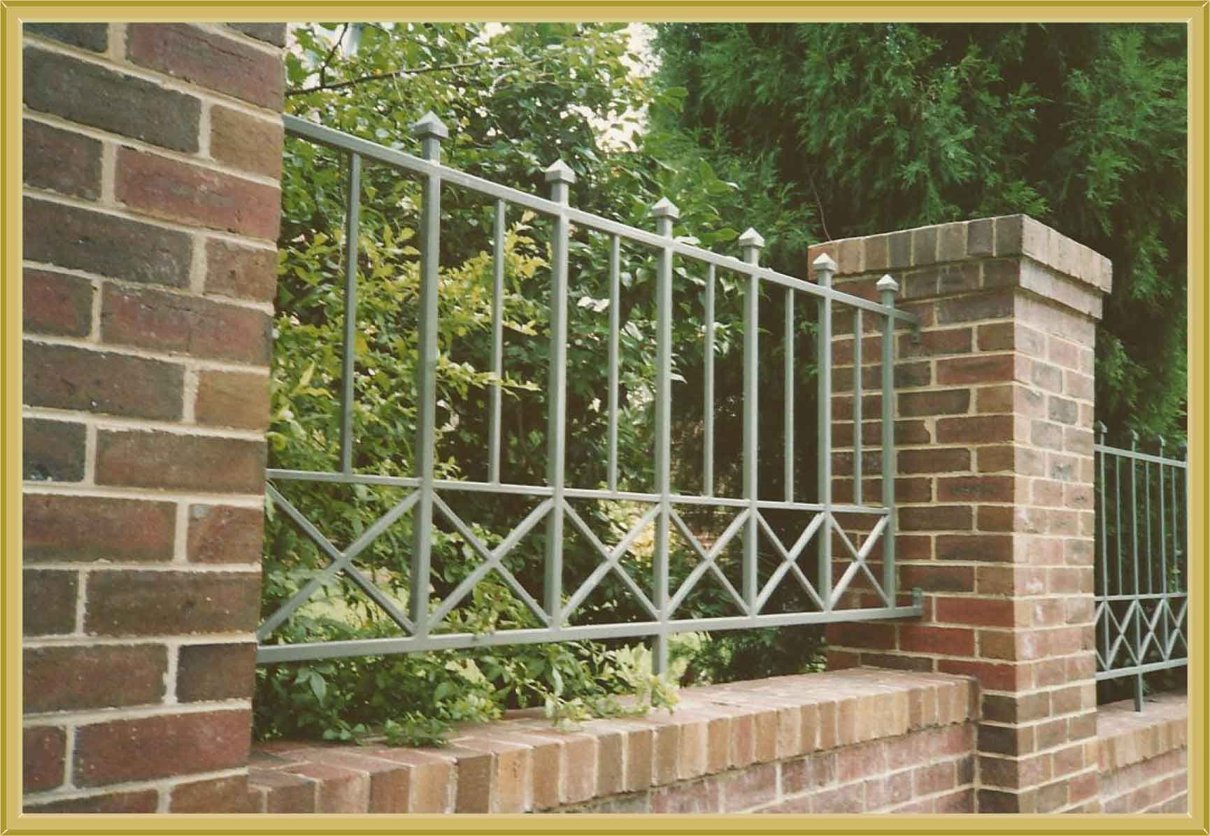 Modern wrought iron gates home concepts ideas iron for Brick and wrought iron fence designs