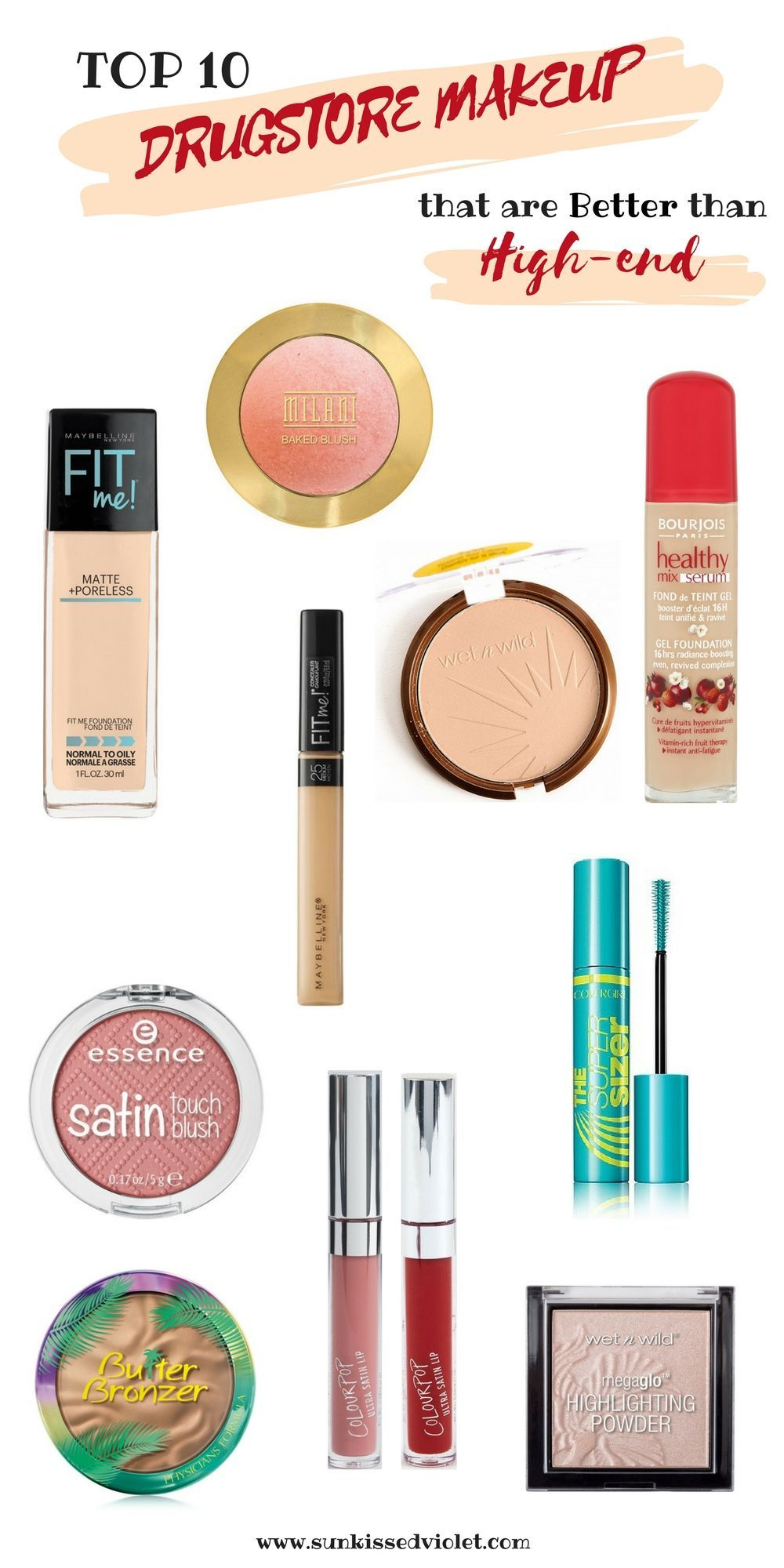 Drugstore Makeup Dupes: TOP 10 DRUGSTORE MAKEUP PRODUCTS THAT ARE BETTER THAN HIGH