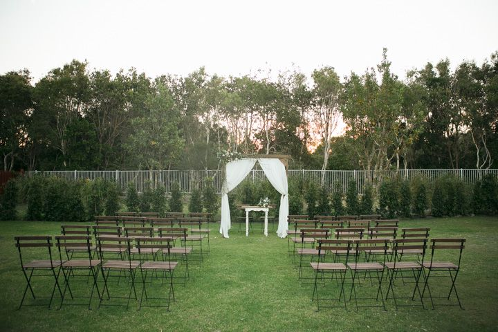 Hampton Event Hire French Rustic Ceremony Package Timber Arbour With Draping