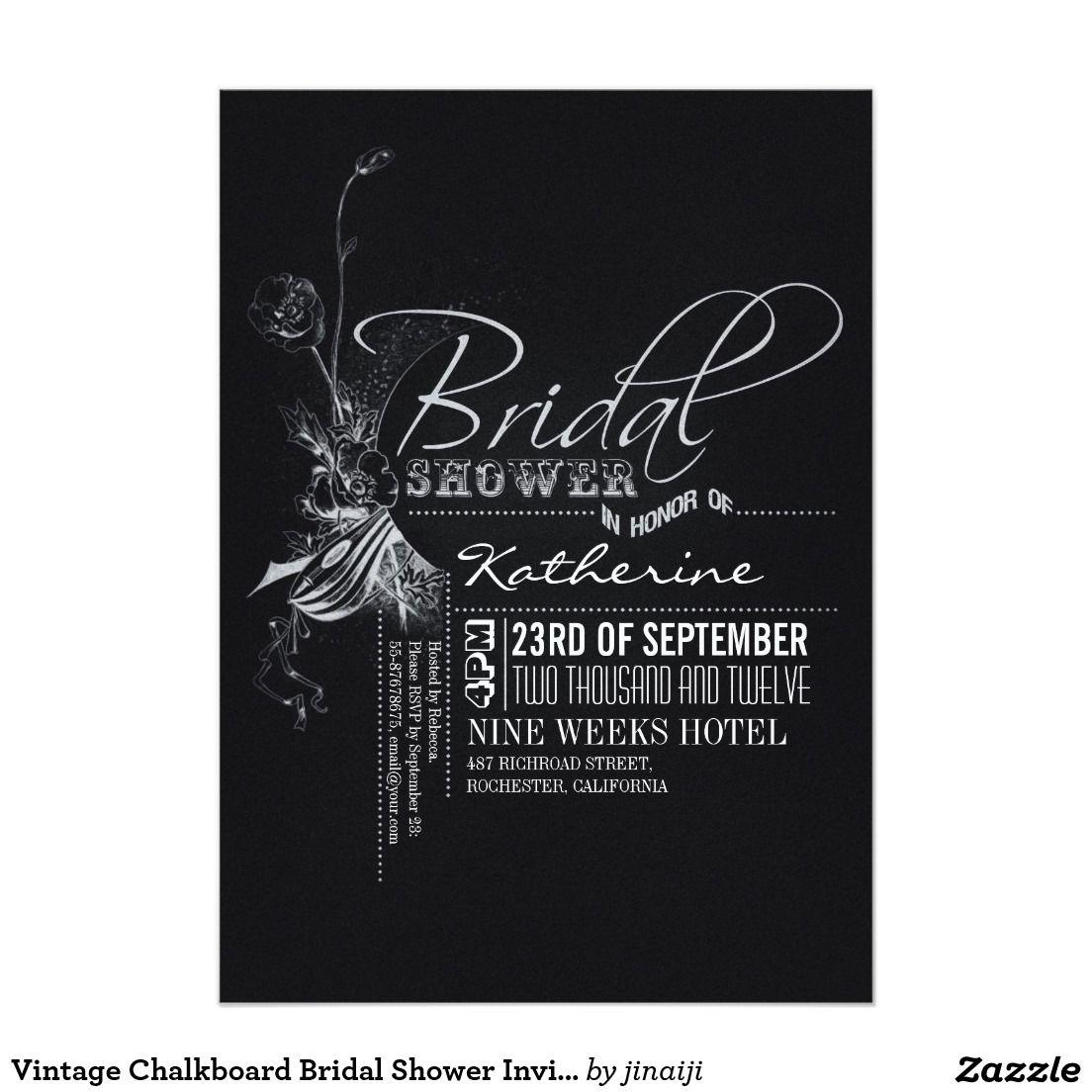 Vintage chalkboard bridal shower invites elegant chalkboard bridal vintage chalkboard bridal shower invites elegant chalkboard bridal shower invitation templates classy bridal shower filmwisefo Images
