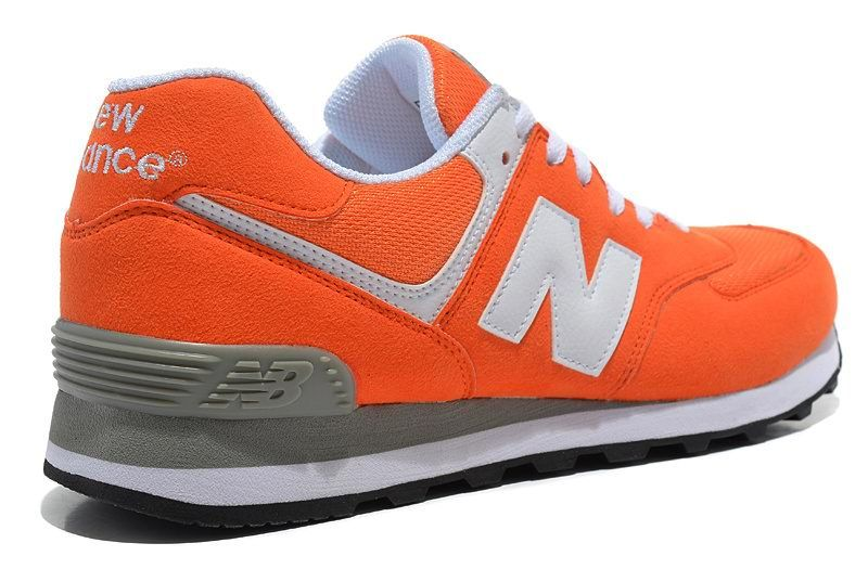 outlet boutique hot sales classic New Balance NB 574 Five Rings series White Orange For Men ...