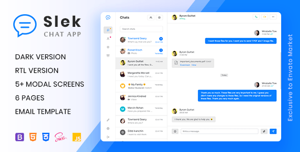 Slek Chat And Discussion Platform Html5 Template Slek Description Slek Allows You To Create Chat And Discussion Platfo Html5 Templates Templates Chat App