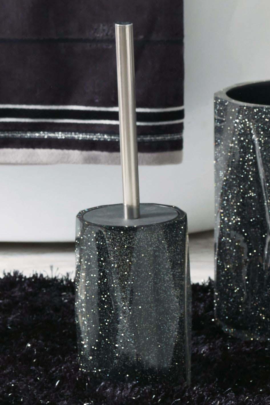 Next Glitter Toilet Brush Black Toilet Brush Brushed Black Candle Holders