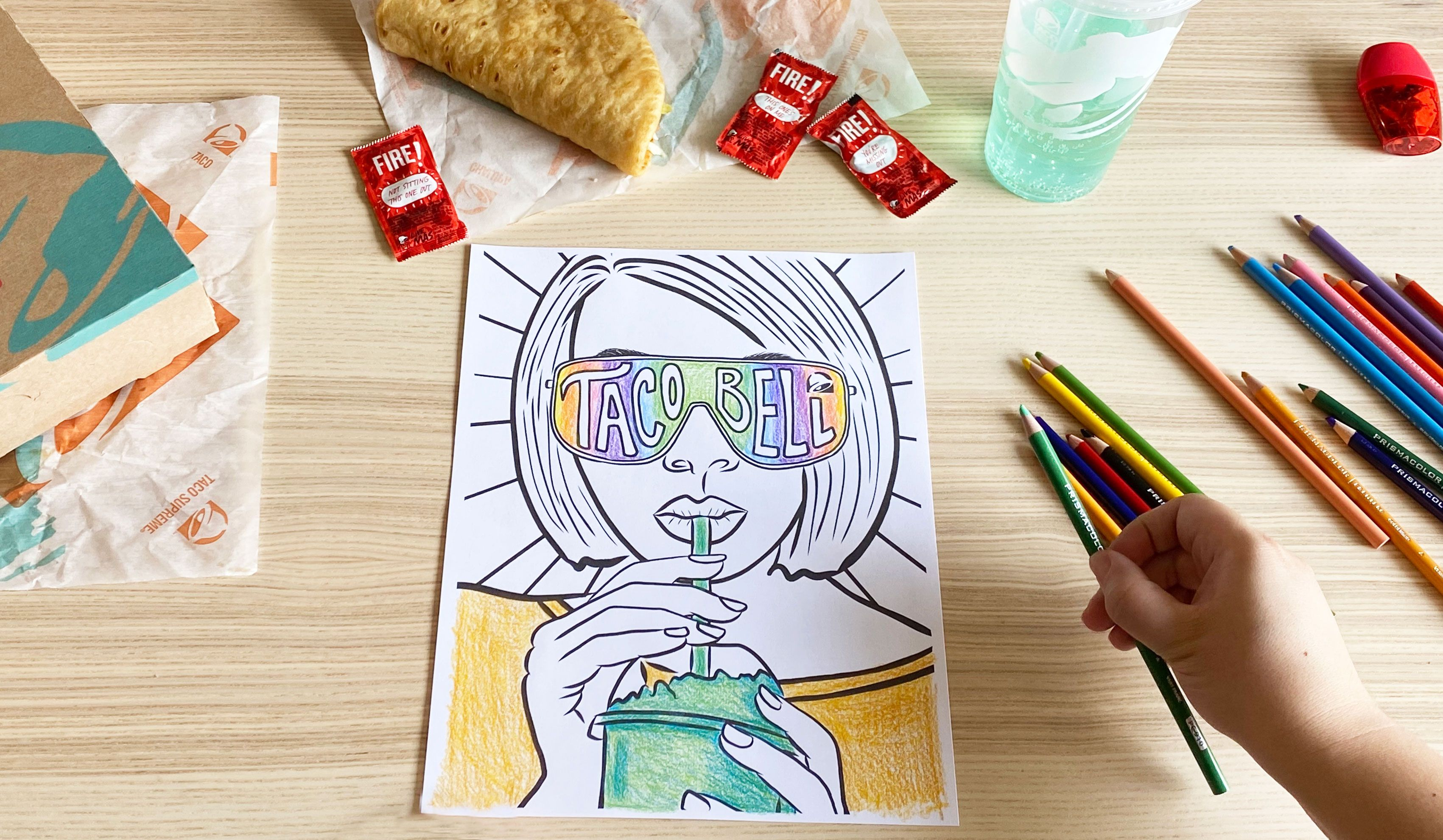Taco Bell Coloring Pages