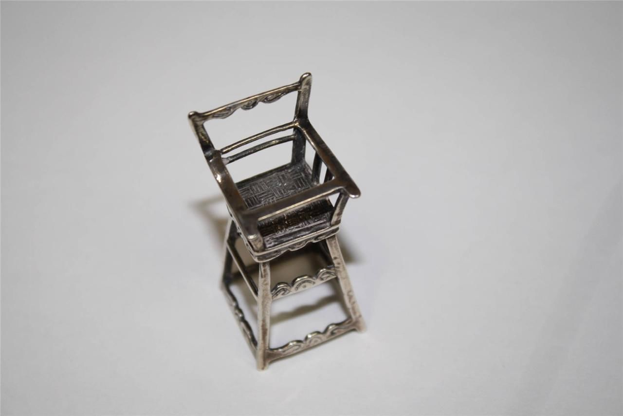 Miniature Sterling Silver High Chair Doll House | eBay