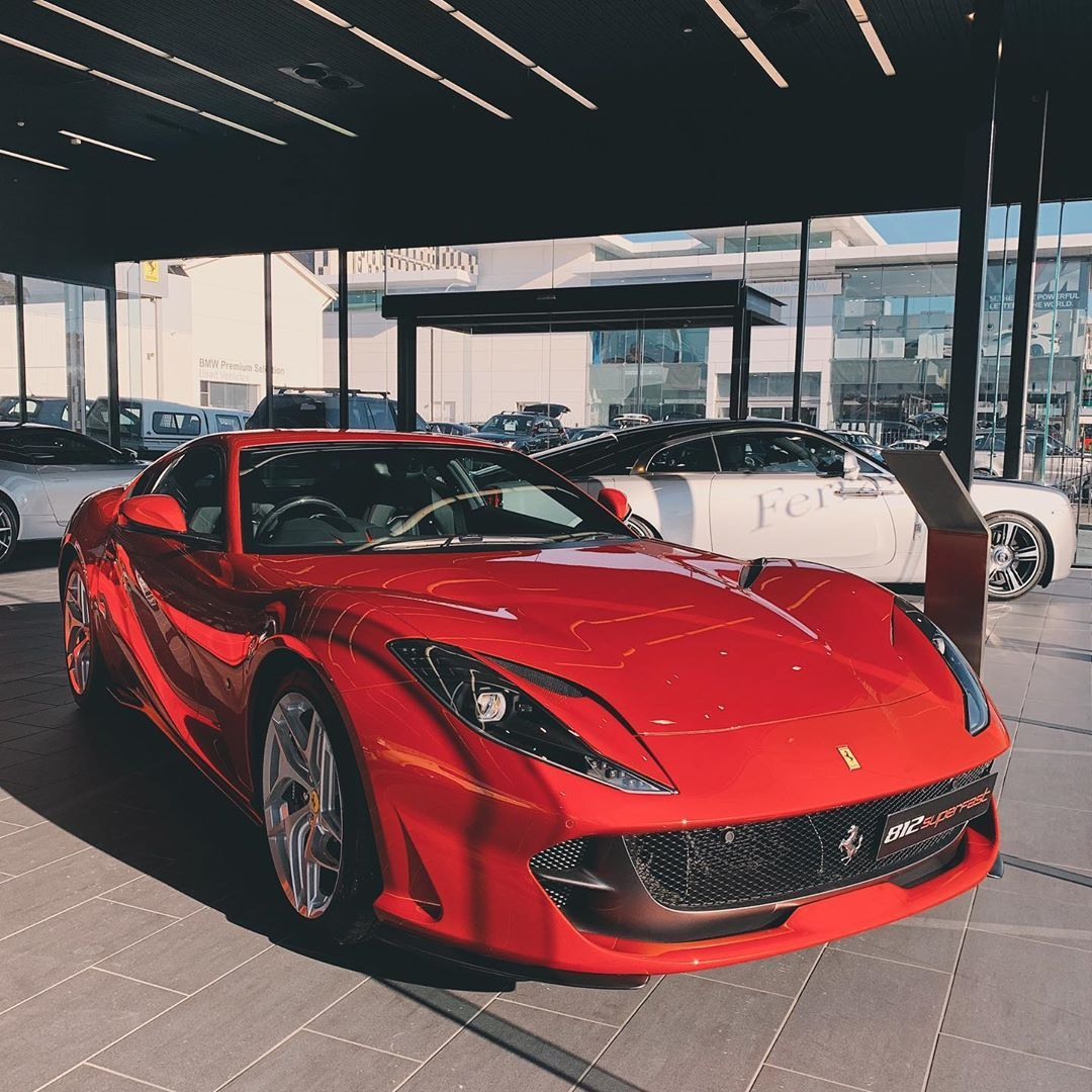 Rae Mano Di Instagram 812 Superfast In Rosso Fuoco Fire Red Burn 812superfast Tuesday The First And Most Difficult Challen Race Cars Car Photos Ferrari