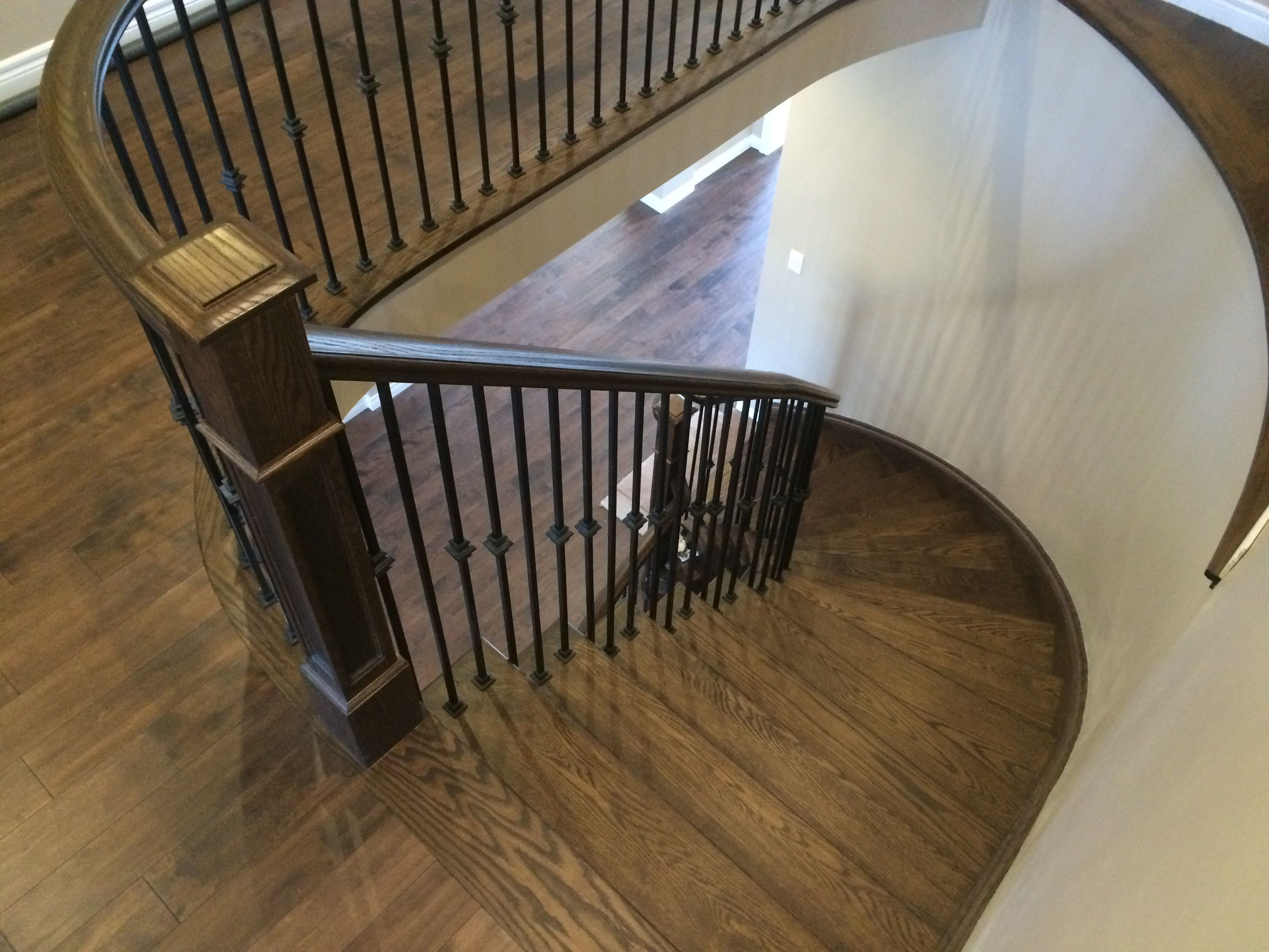 Best Existing Staircase Refinished To Match Hardwood On Upper 400 x 300
