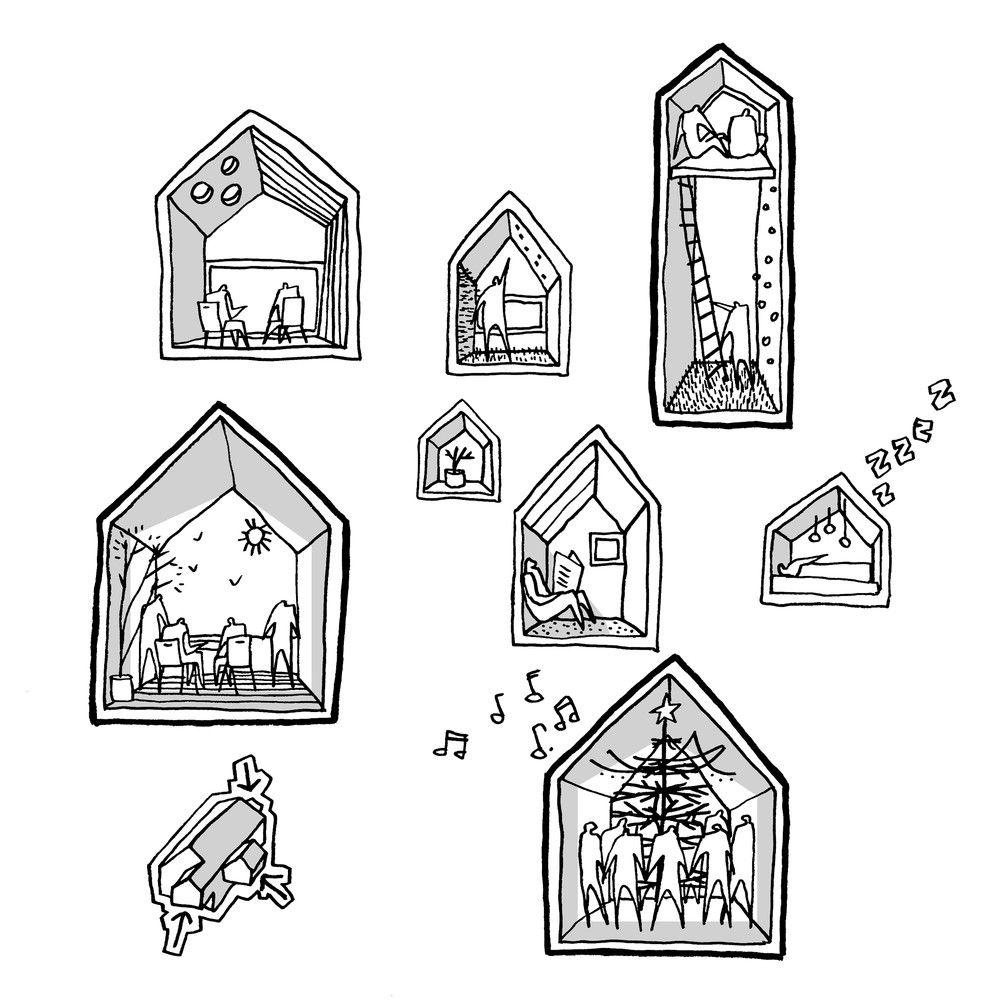 Gallery Of Children S Home Cebra 19 Diagram Architecture Architecture Drawing Architecture Sketch