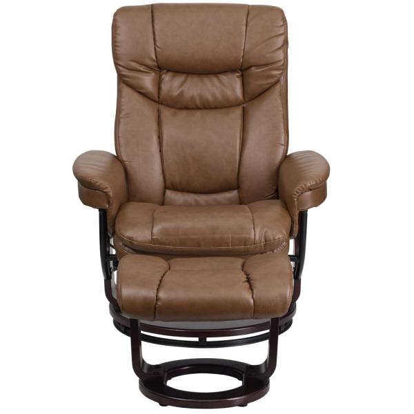 Ottoman Brown Leather Recliner, Flash Furniture Recliner Chair With Ottoman