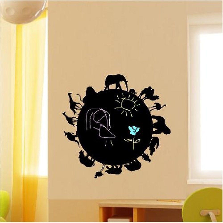 Safari Animal Chalkboard wall saying vinyl lettering home decor ...