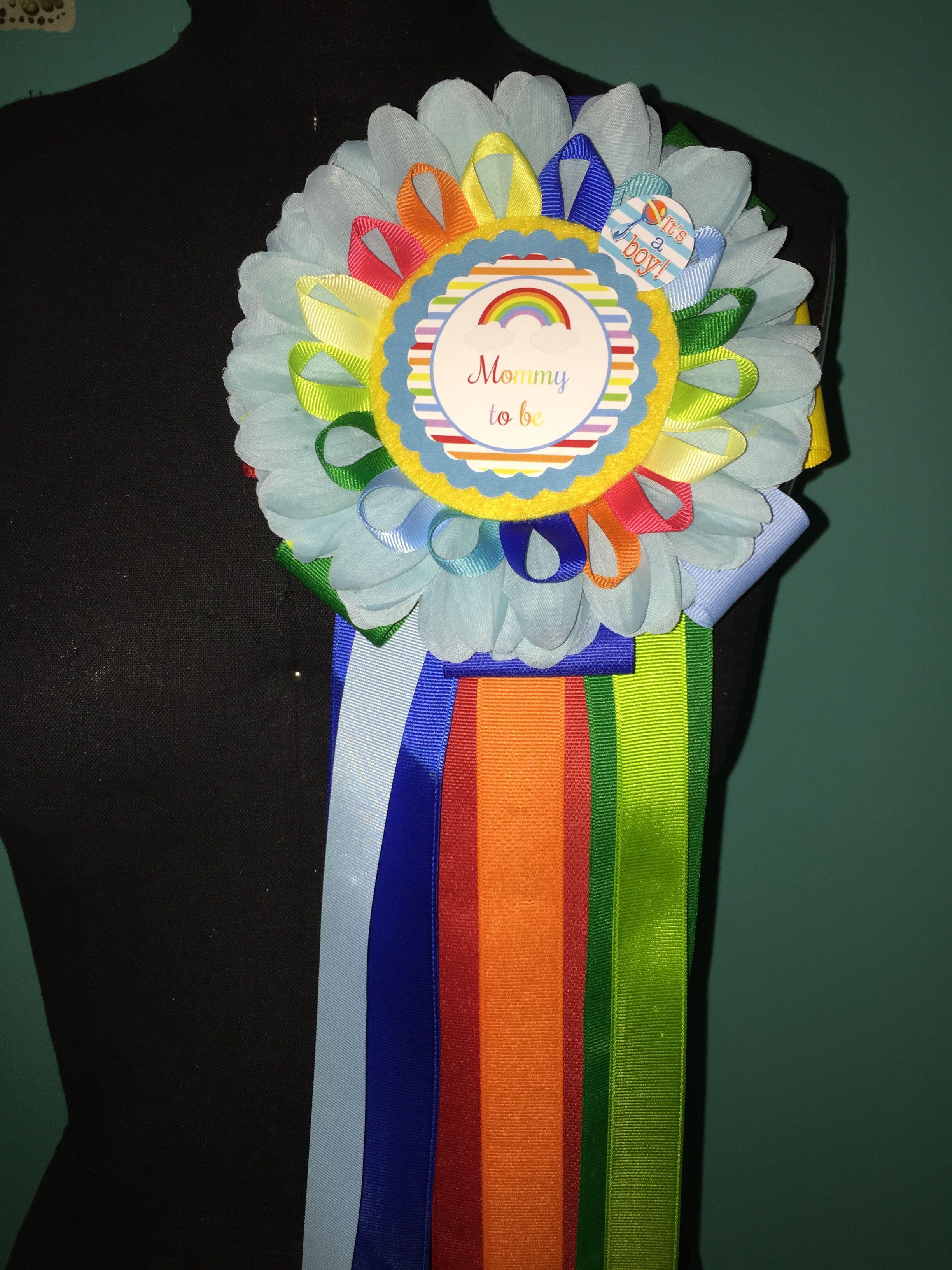 Rainbow Baby Shower Corsage Temas De Baby Shower Ninos