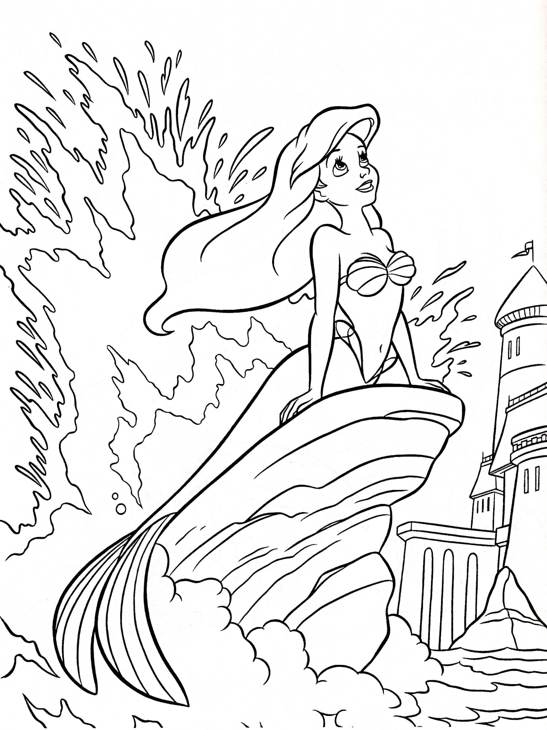 Free Little Mermaid Coloring Pages Free Printable Little Mermaid Christmas Coloring In 2020 Ariel Coloring Pages Disney Princess Coloring Pages Princess Coloring Pages