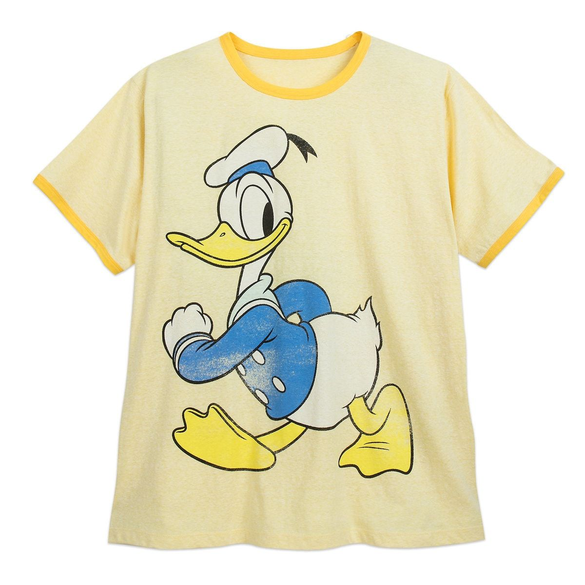 Donald Duck Ringer T Shirt For Men Extended Size Disney Outfits Disney Tees Shirts