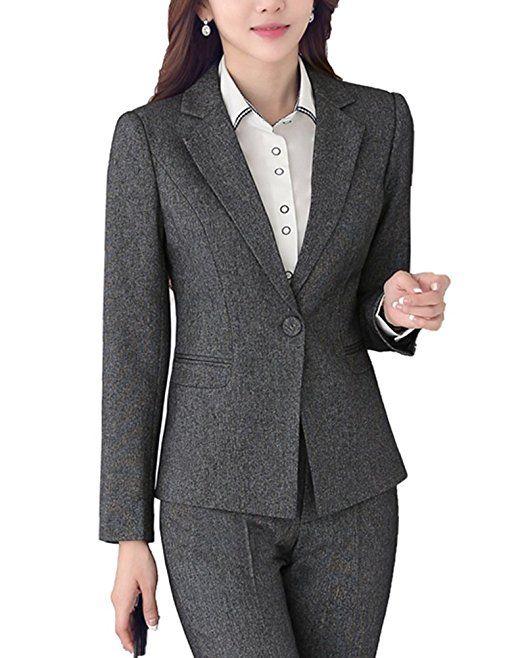 Reverskragen Sk Slim Fit Business Blazer Studio Hosenanzuge Damen NnOmw8v0