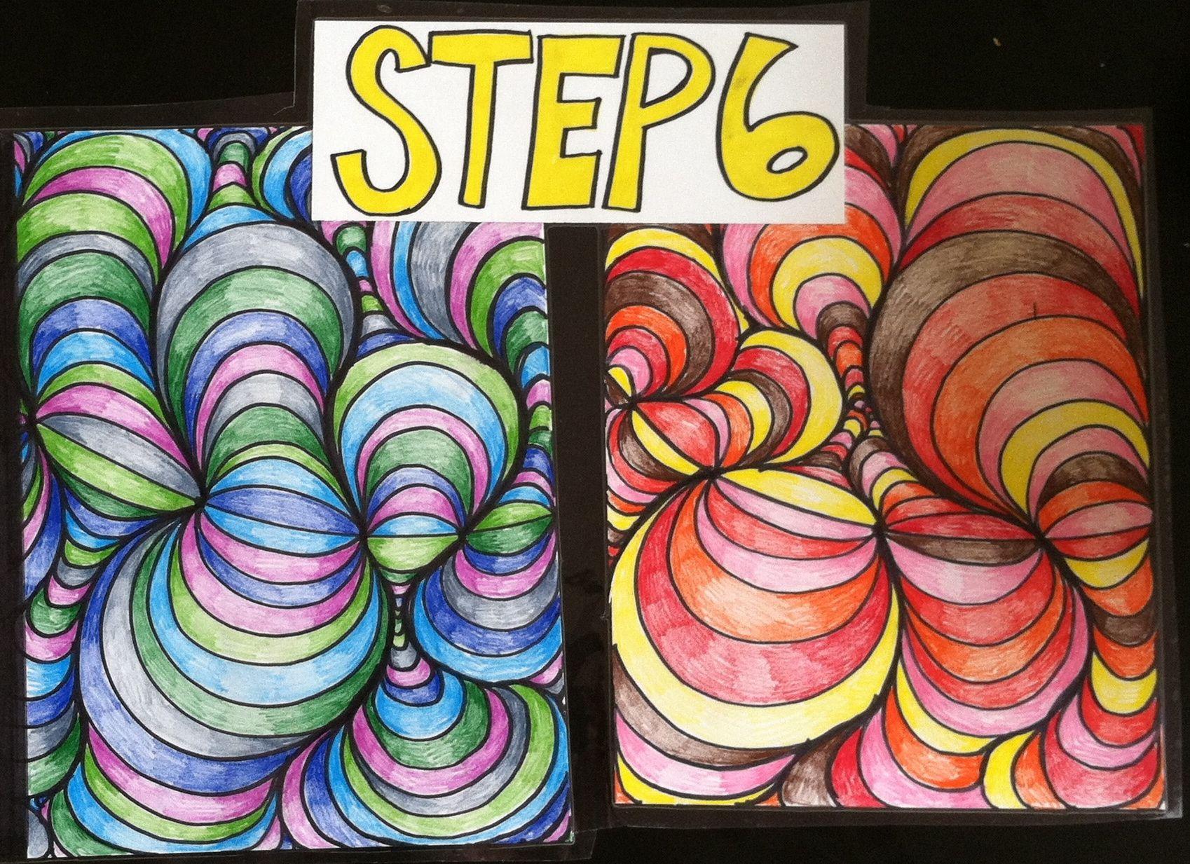 Op Art Line Design Lesson : The smartteacher resource line design th grade art projects