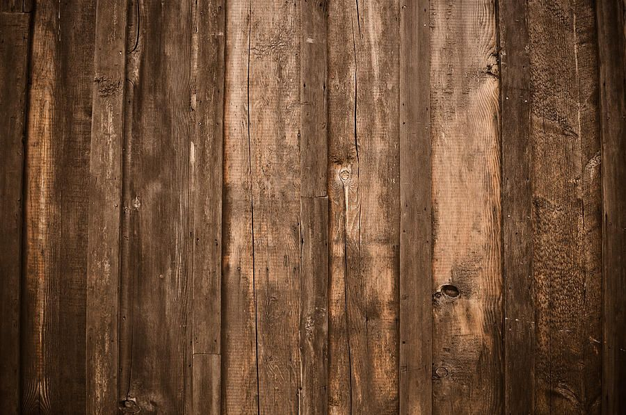 Rustic Dark Wood Background Canvas Print / Canvas Art by ...