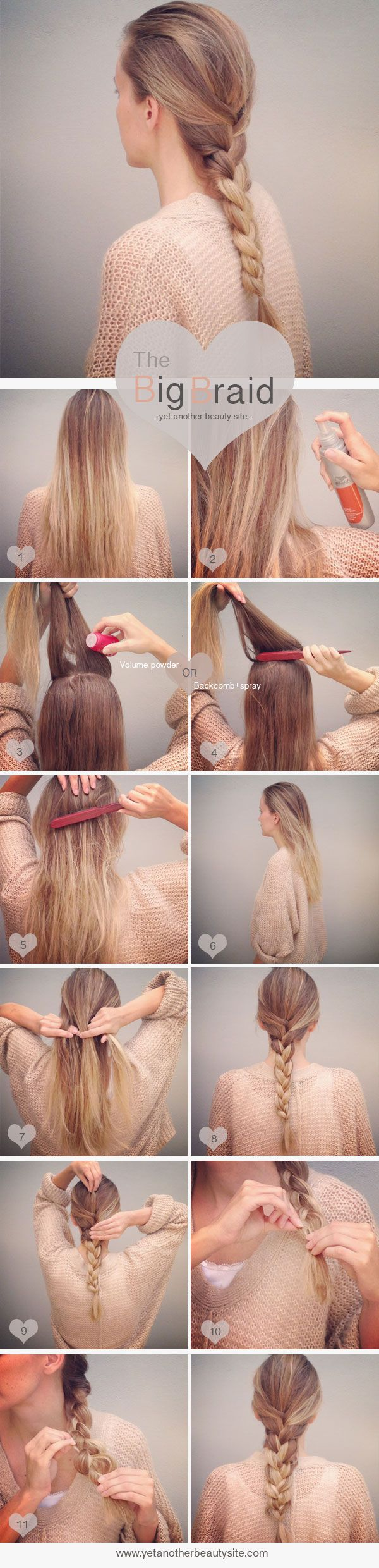 So cute hair and beauty pinterest tutorials easy and big braids