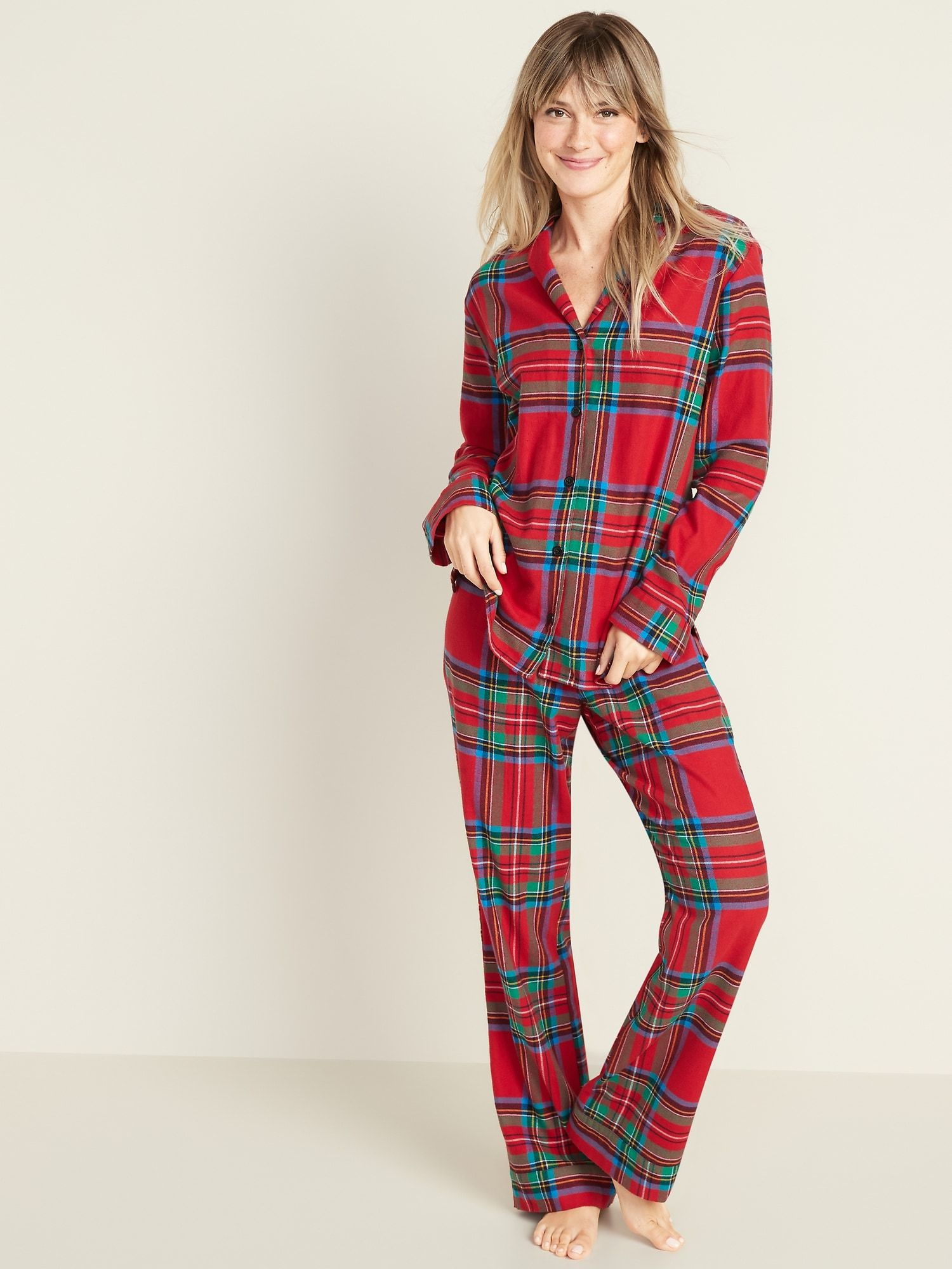 Patterned Flannel Pajama Set For Women in 2020 Flannel